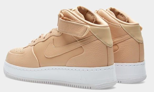 Фото Nike Lab Air Force 1 Mid бежевые - 3
