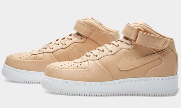 Фото Nike Lab Air Force 1 Mid бежевые - 2