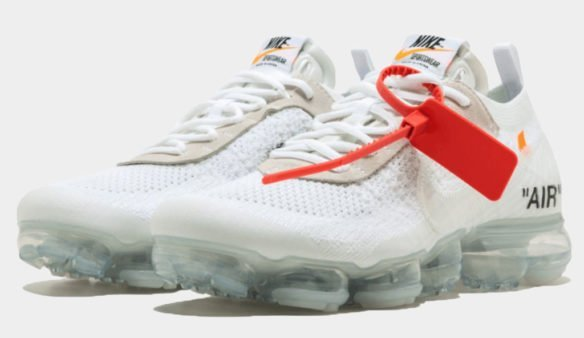 Фото OFF-WHITE x Nike Air Vapormax белые - 3