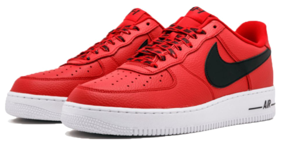 Фото Nike Air Force 1 LV8 NBA красные - 3