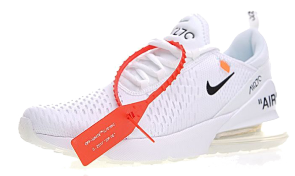 Фото Off White x Nike Air Max 270 Белые - 1